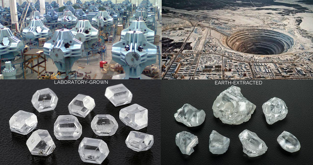 Lab Created Diamonds vs Earth Mined Diamonds Comparison