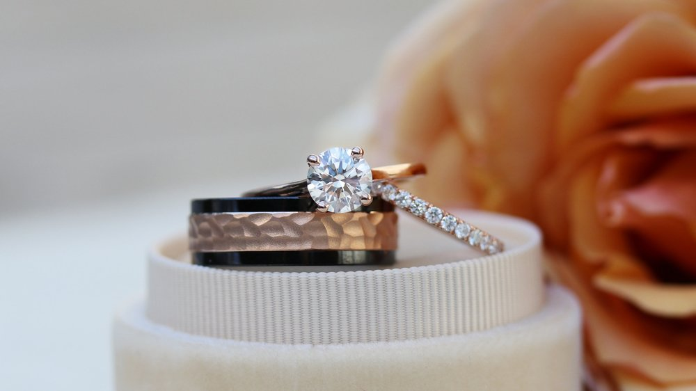 Custom Matching Lab Diamond Wedding Set.jpg