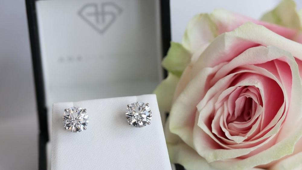 Classic Lab Created Diamond Stud Earrings Artistic