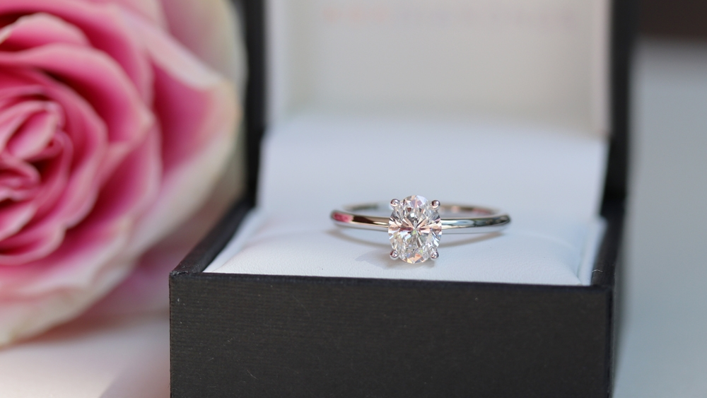 Classic Round Solitaire Lab Created Diamond Proposal Setting