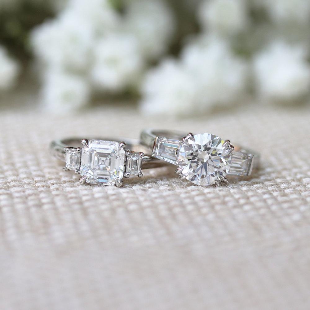 Shop All Three Stone Rings -
