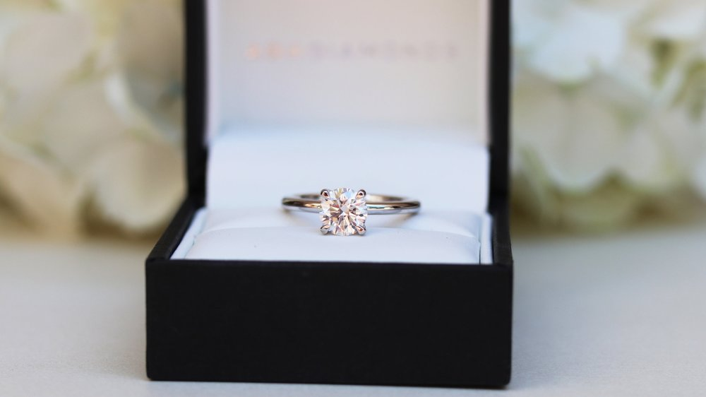 four prong lab diamond solitaire engagement ring ada diamonds