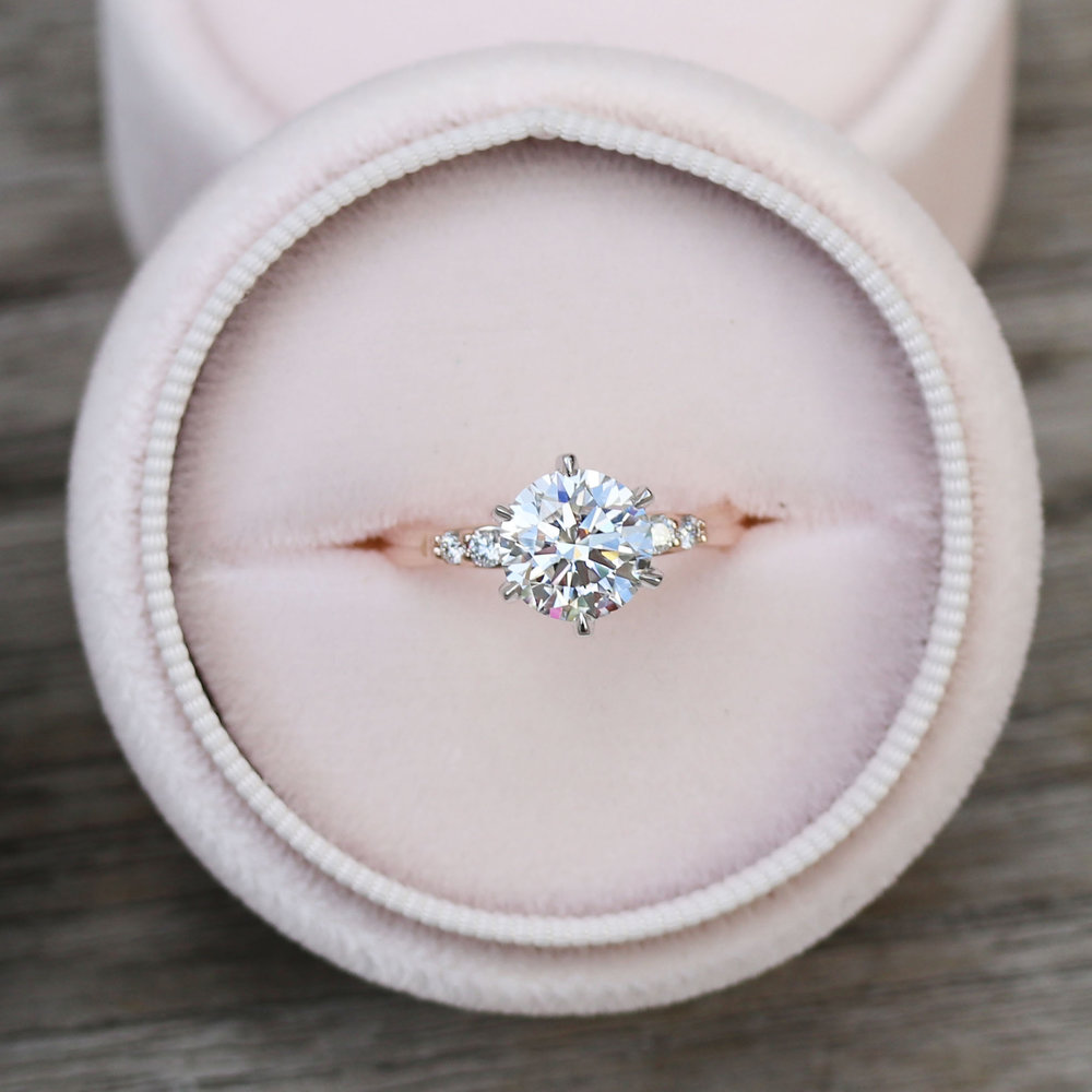 Classic Solitaire Lab Created Diamond Engagement Ring