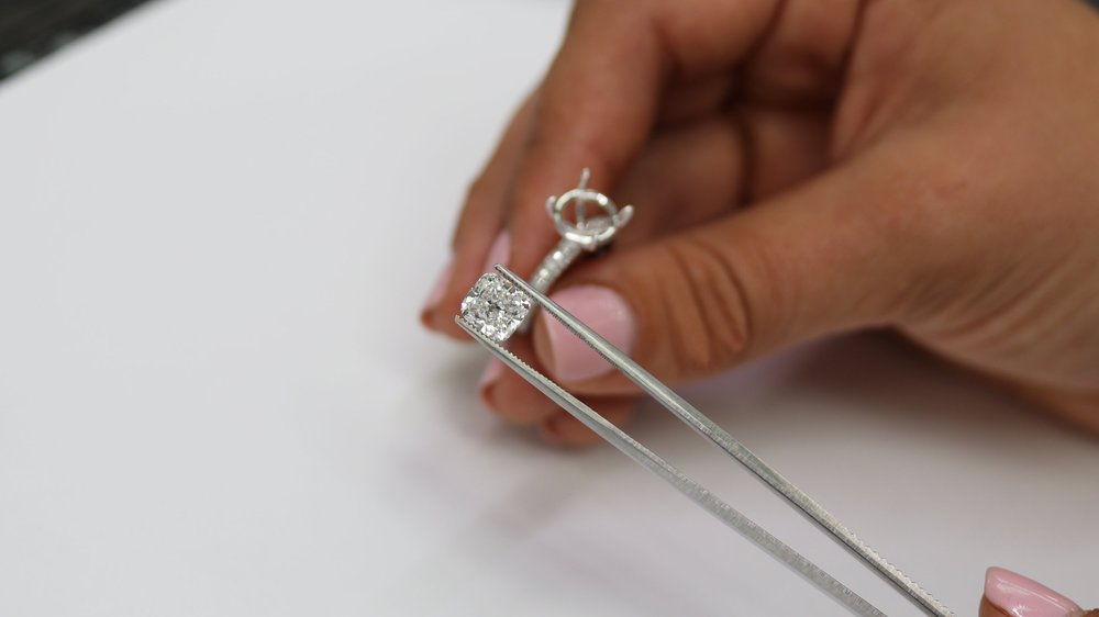 loose cushion cut lab grown diamond for sale ada diamonds