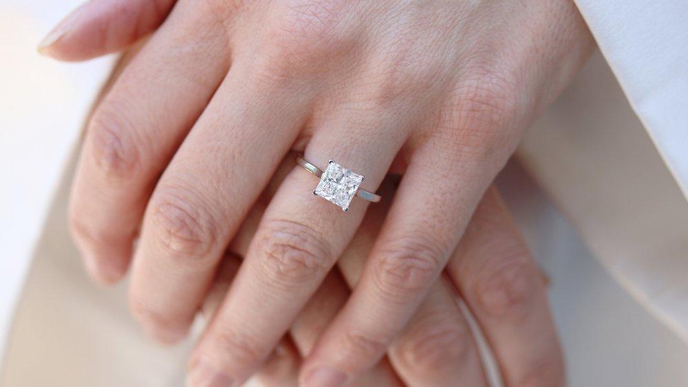 1.50 carat emerald cut lab diamond solitaire engagement ring Ada Diamonds