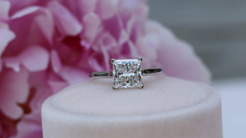 emerald cut lab diamond solitaire Ada Diamonds 068