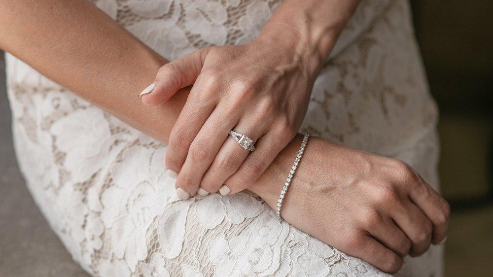 custom 2 carat emerald cut three stone lab diamond engagement ring Ada Diamonds