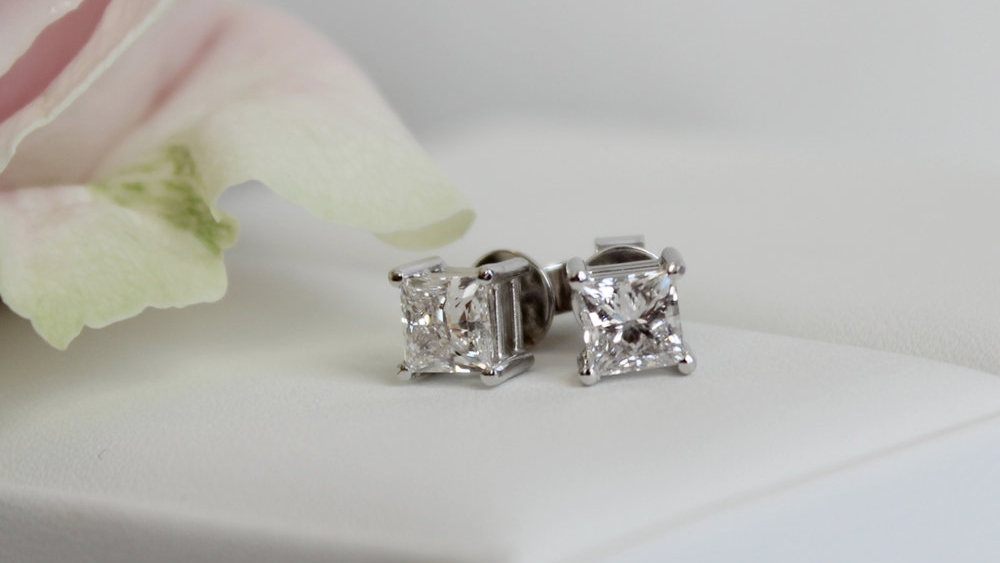 emerald cut lab created diamond halo stud earrings ada diamonds