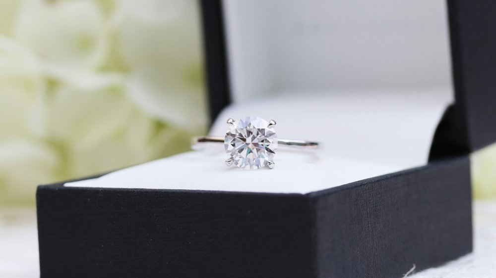 petite four prong lab diamond solitaire engagement ring ada diamonds