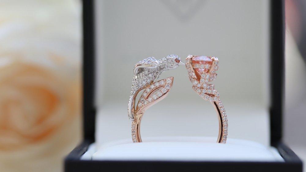 two carat oval lab diamond pave band engagement ring Ada Diamonds