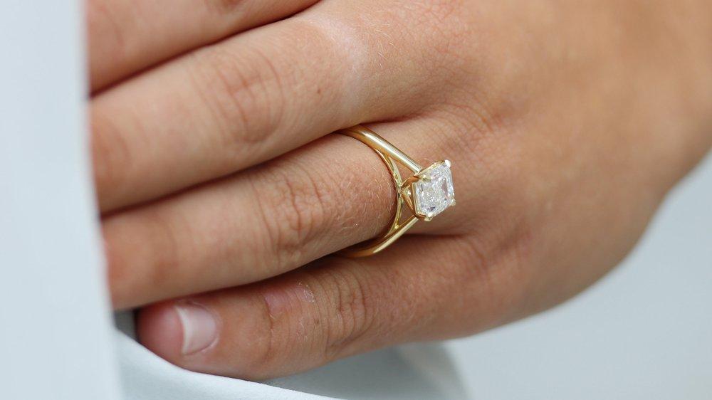 halo oval lab diamond stud earrings Ada Diamonds