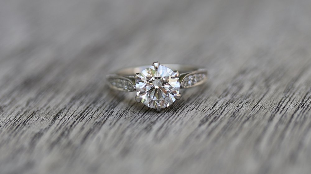 antique style custom lab diamond engagement ring ada diamonds