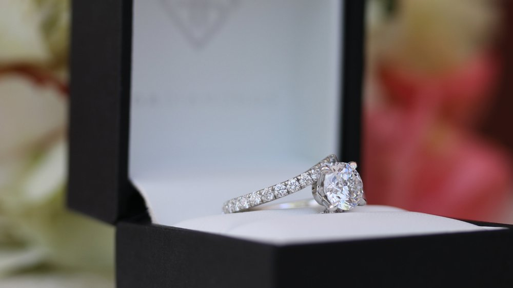 custom diamond band lab grown diamond engagement ring ada diamonds