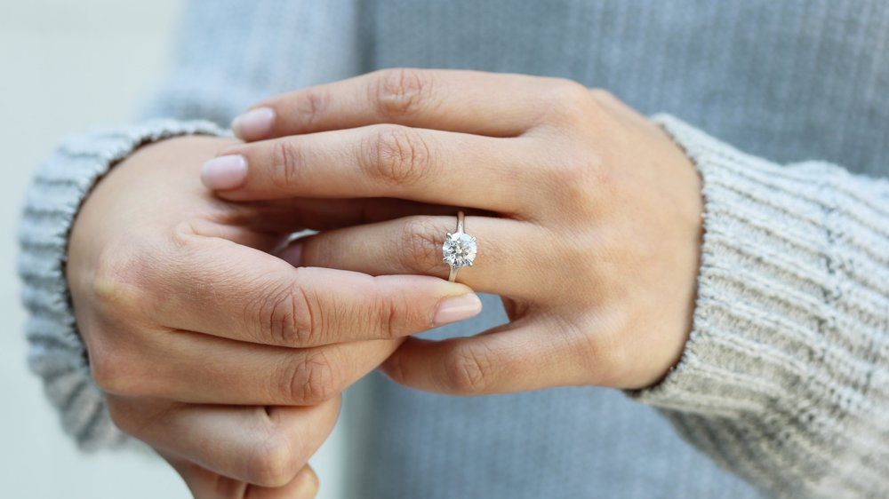 custom split shank lab diamond solitaire engagement ring ada diamonds