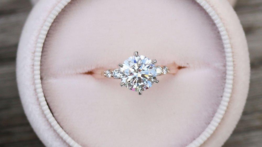 custom two tone six prong lab diamond engagement ring ada diamonds