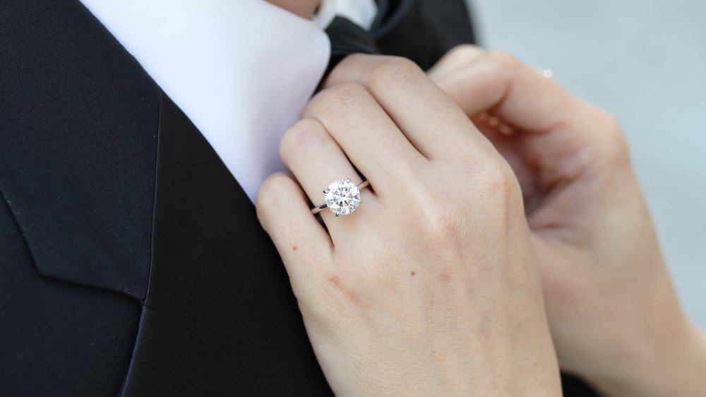 lab diamond solitaire engagement rings ada diamonds