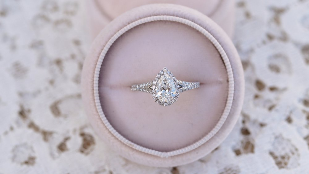 one carat lab created pear diamond engagement ring ada diamonds
