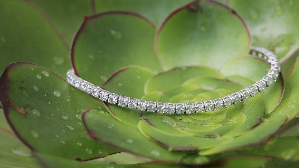 three layer lab diamond tennis bracelet