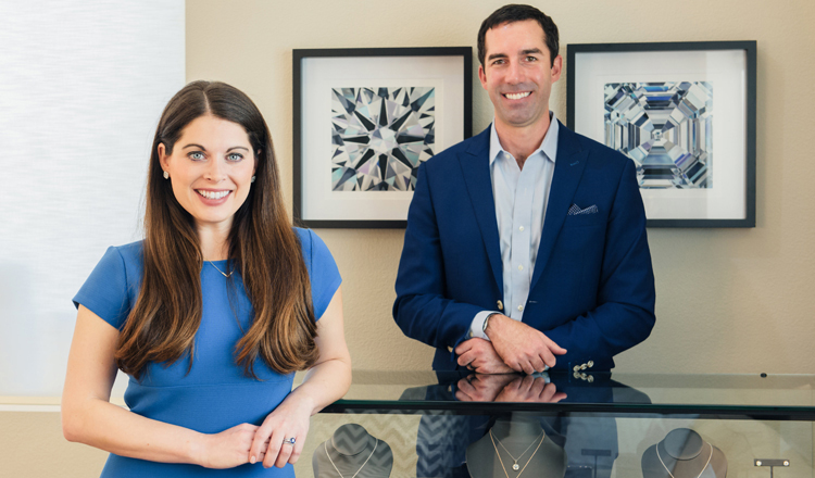 Ada Diamonds Co-Founders Lindsay Reinsmith & Jason Payne (a wife-husband team)