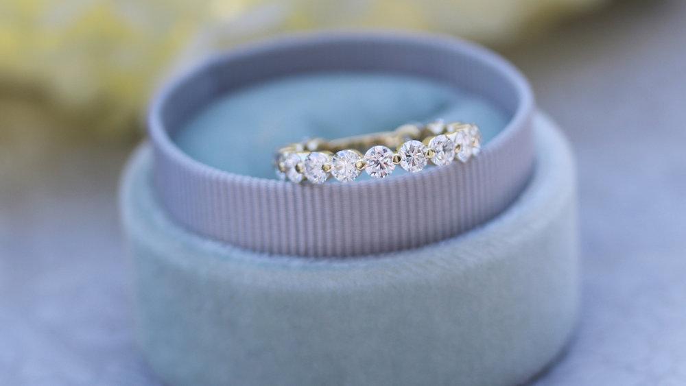 Lab Created Diamond Stacking Eternity Wedding Bands