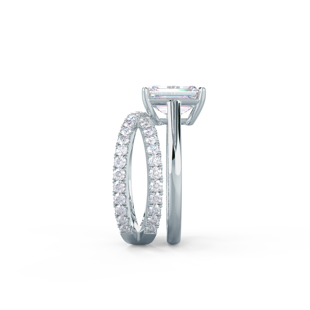 This setting may be modified to allow for a wedding band to sit flush with no gap.     View Wedding Band Details