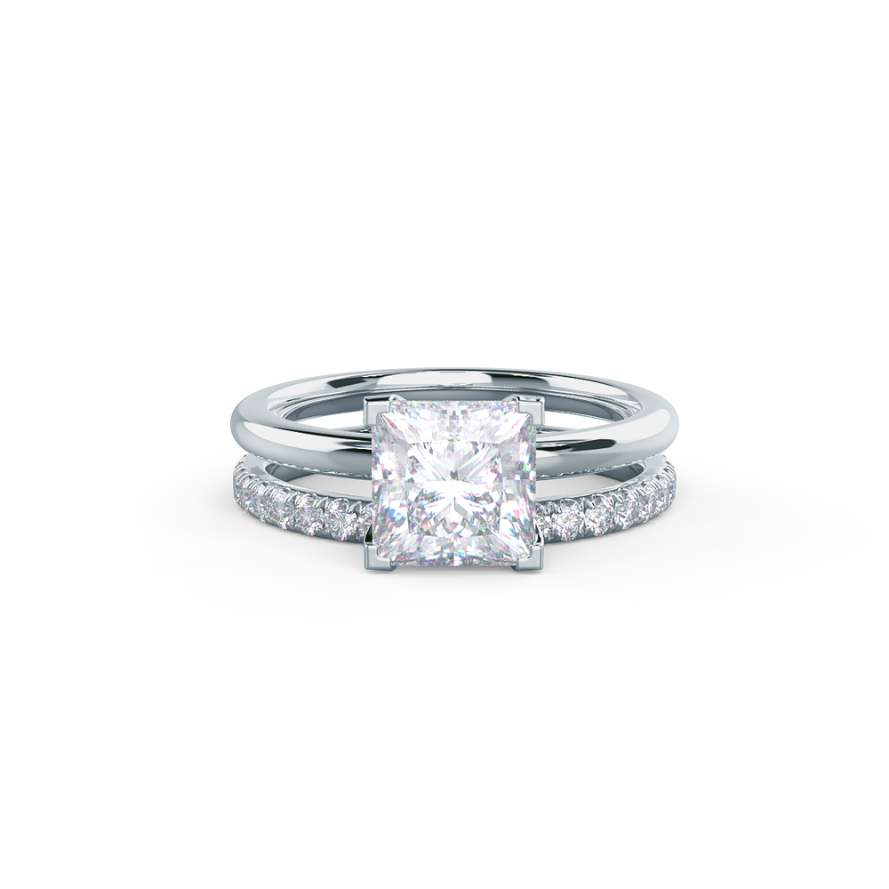 This setting pairs with a variety of wedding band styles.     View Wedding Band Details
