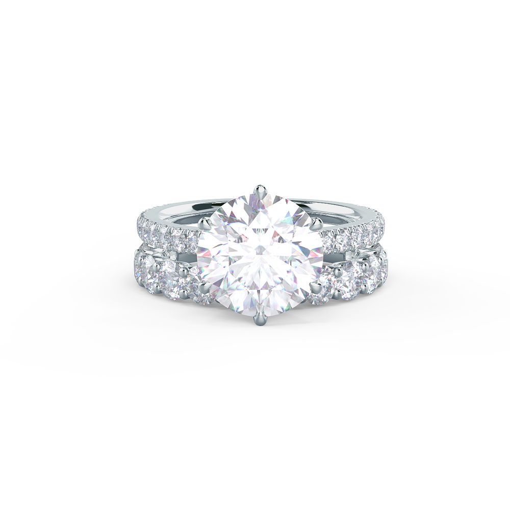 This setting allows for a wedding band to sit nearly flush.     View Wedding Band Details
