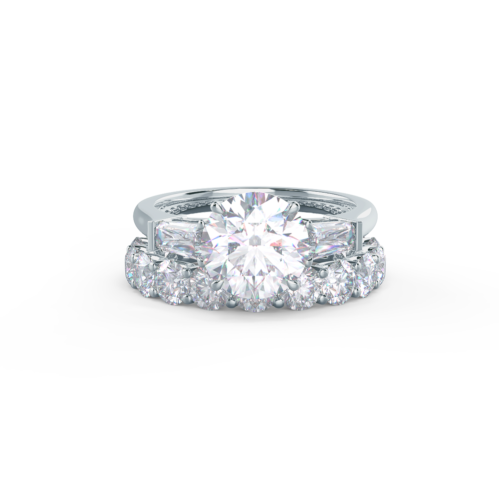 Pair your French U Eternity Band with a Beveled Polydiamond Ring    Shop Now
