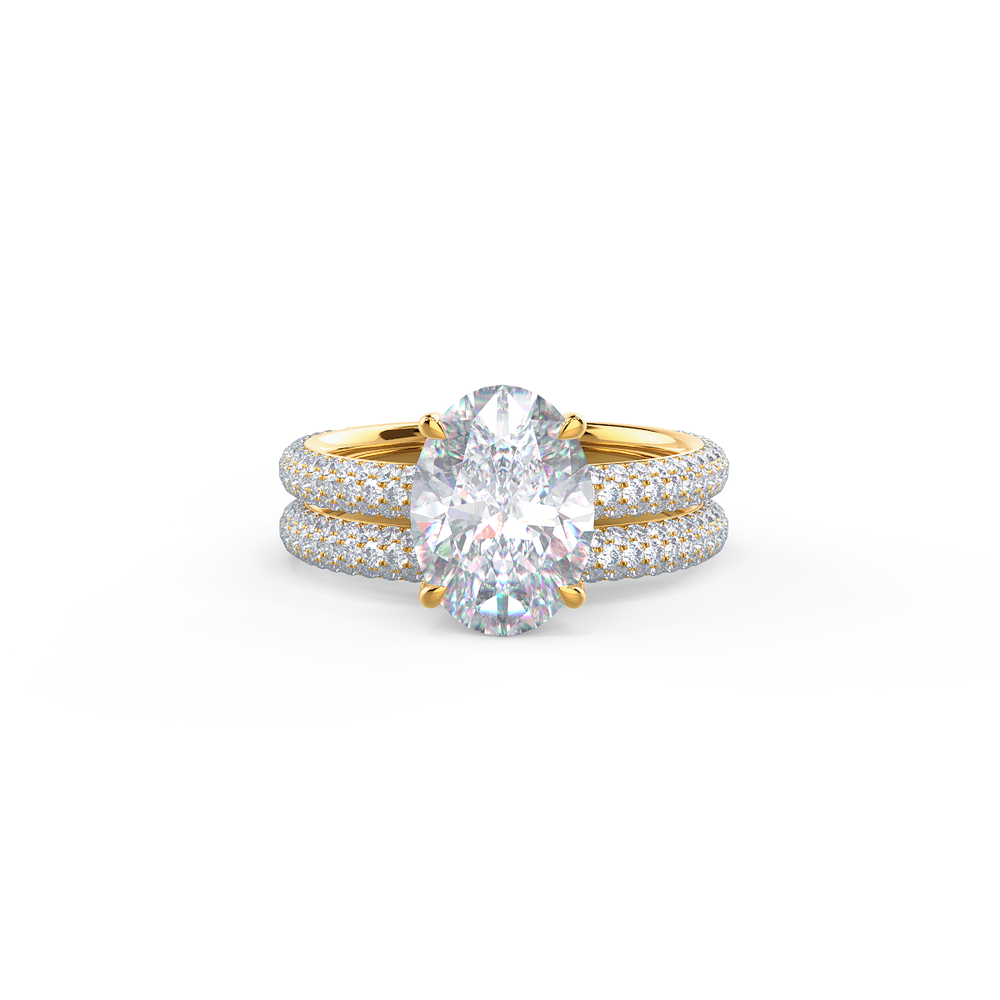 Pair your Micro Pave Wedding Band with a Narrow Matte Beveled Polydiamond Ring    Shop Now