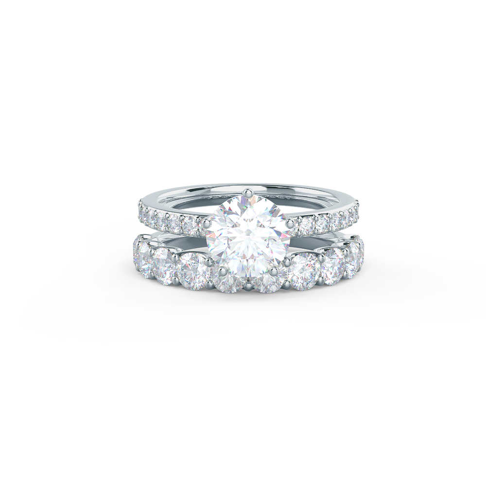 Pair your French U Half Band with a Narrow Matte Rounded Polydiamond Ring    Shop Now