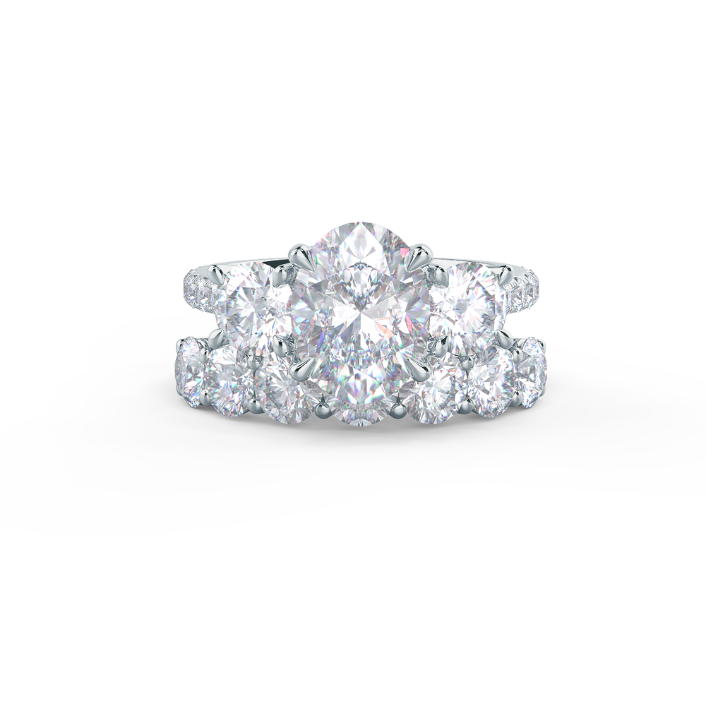 Pair your Round Seven Stone Ring with a Narrow Matte Rounded Polydiamond Ring    Shop Now