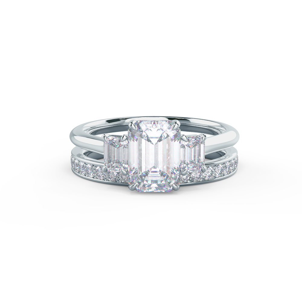 This setting allows a wedding band to sit flush with no gap.     View Wedding Band Details
