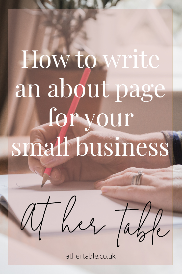 how to write an about page for your small business