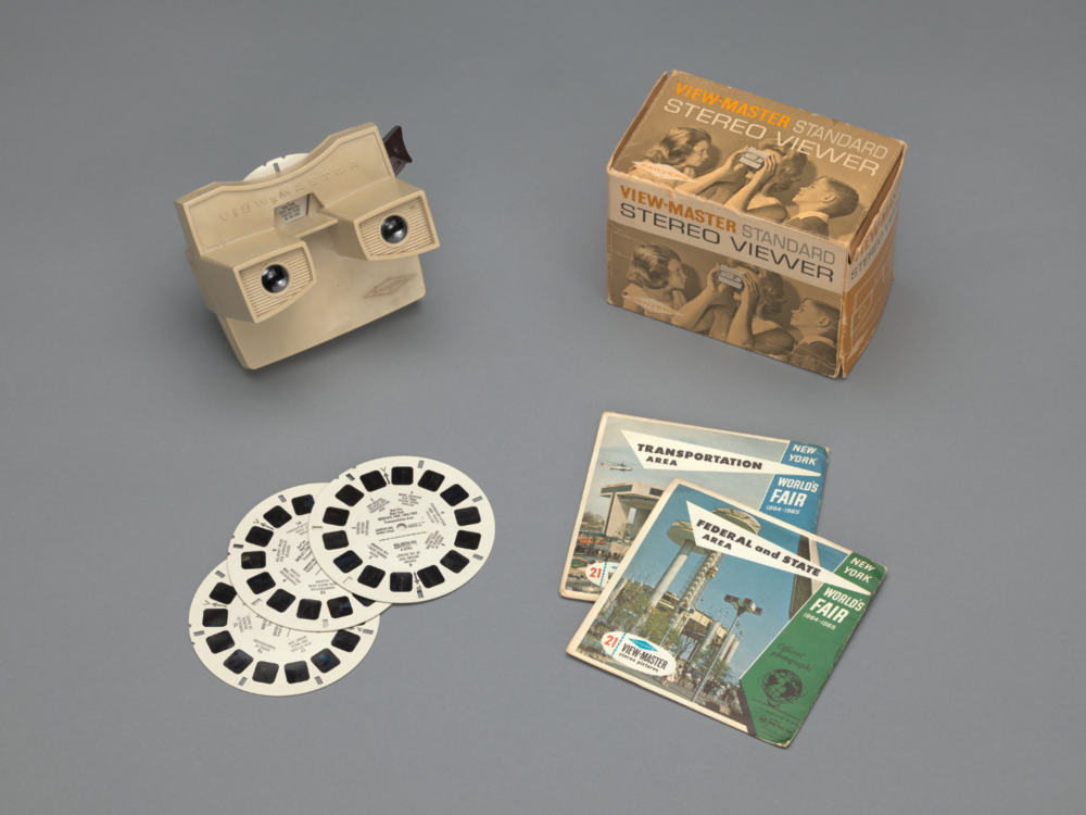 Above  Charles Harrison. View-master (model G). 1962,  Source:    MoMA