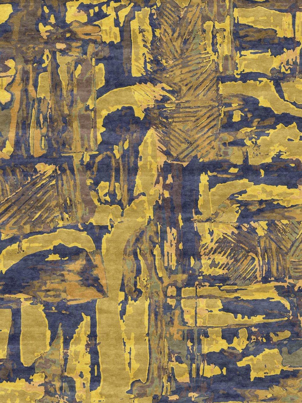 Above  Malene's Acid Blueberry carpet design,  Source:    maleneb.com
