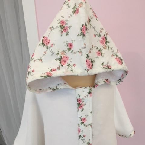 Cape de bain - imprimé 2 fleuri