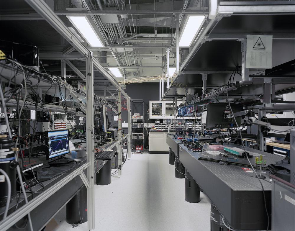 "Caution - Laser Laboratory  2015 4x5"" negative, Canson Infinity Platine Fibre Rag 38"" x 48"""