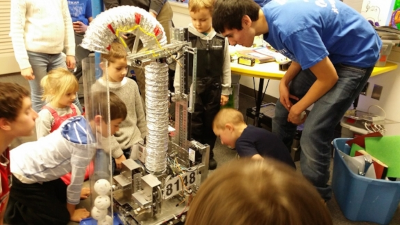 Robotics has the ability to inspire wonder and amazement, from young kids like this to teenagers and adults alike. By its nature, robotics promotes creative exploration, unlike many STEM fields.