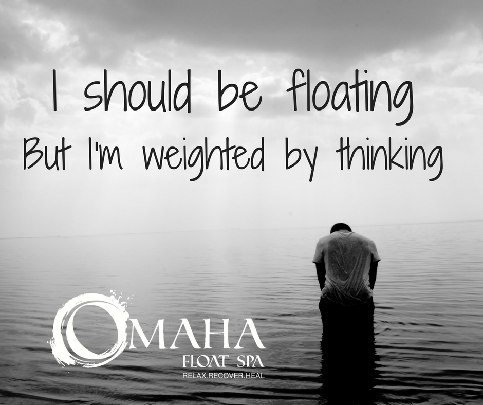Social Media Ad for Omaha Float Spa featuring a sad woman