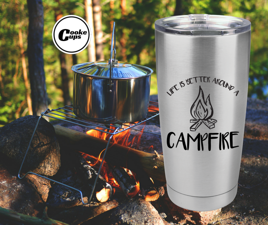 Cooke Cups Camping Ad for Social Media