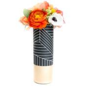 Black & White Geo Vase