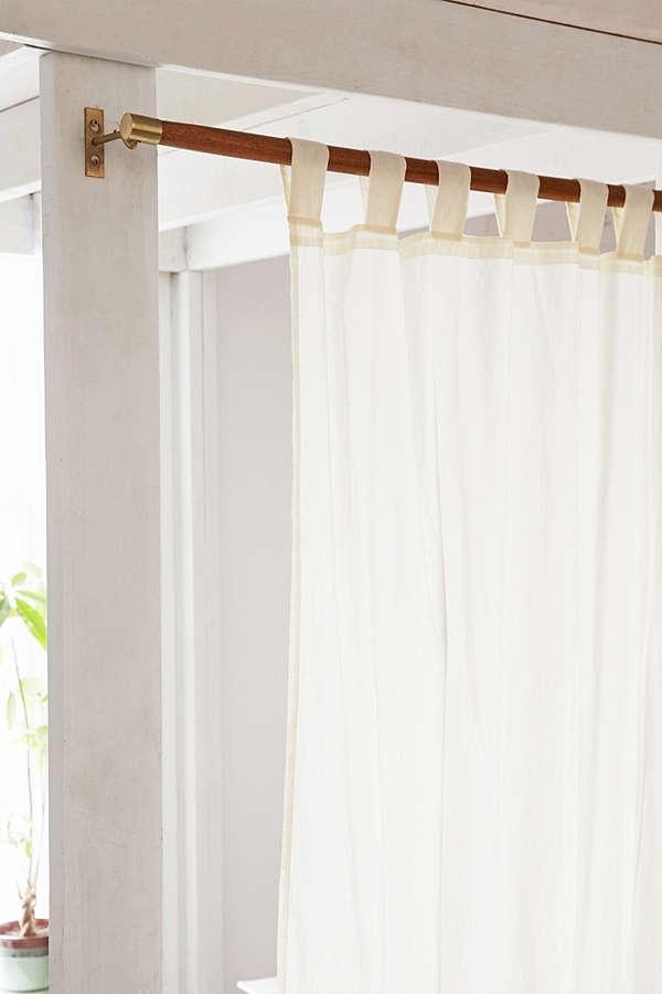 Mid-century wood Curtain Rod