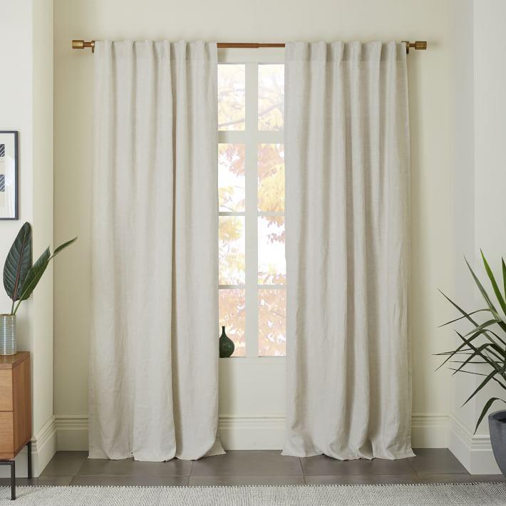 linen neutral curtains
