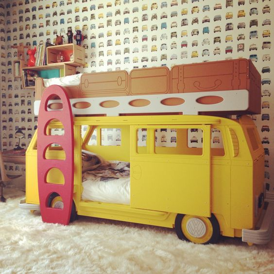 This bunk bed is by  Fun Furniture Collective , you gotta check them out if you're after a unique kids bed.