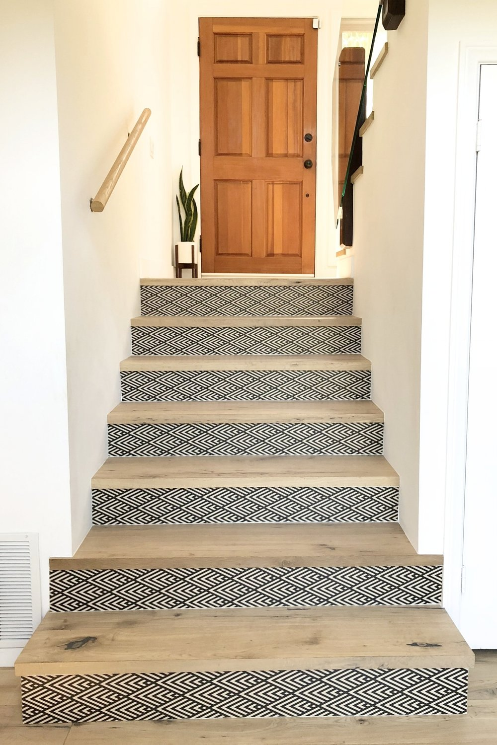 DIY Wallpapered stairs