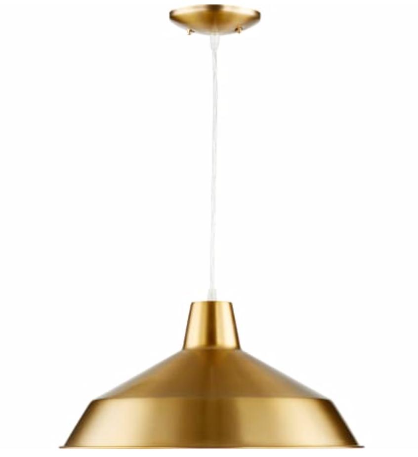 Aged Brass pendant light