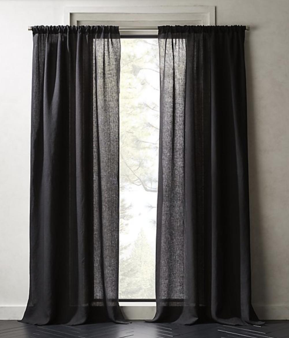 Linen Black Curtains