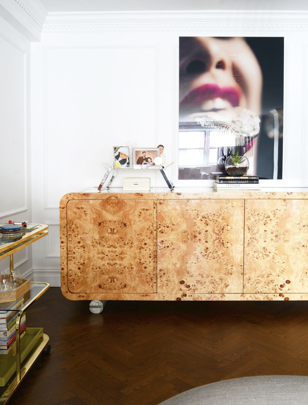 I'm drooling over this burl wood credenza, aren't you?