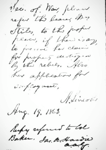 Abraham Lincoln - Lincoln sent a letter to Union spy, Elizabeth Stiles, in 1863. Elizabeth Stiles was a resident at Madison Seminary when it was the Madison Home operated by the Women's Relief Corps. Ten months after her husband's murder, Abraham Lincoln reached out to Elizabeth DIRECTLY and requested her service as a spy for the Union.