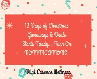 🙌🏽🎄🙌🏽🎄12 Days Of Christmas Giveaways  and Deals Starts Today!!!! Make sure to turn on your notifications so you don't miss out on each daily giveaway/ deal. 1st giveaway will be announced today at 1:30.  Remember each person who participates and is active on each day will be enters into the grand prize drawing on the 23rd. So be ready! #vitalessencewellness #massagetherapy #wellnessess #lifeofamassagetherapist #holidayjoy #Ilovechristmastime #healthcoach